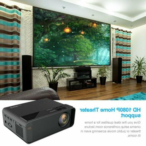 4K Wireless LED Projector 6.0 BLuetooth 1080P Theater