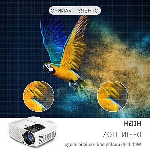"VANKYO 510 HD Projector, Projector with 200"" Size, VGA USB with Free Cable and Carrying"