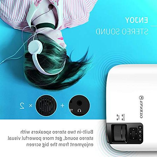 VANKYO Leisure Full HD Movie Projector, Projector with Size, Support VGA USB Free HDMI Cable Carrying