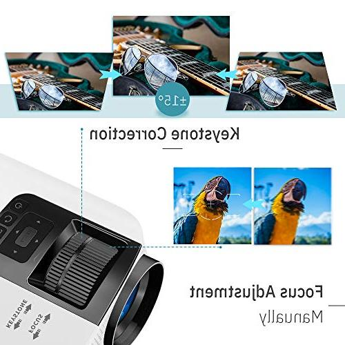 VANKYO Leisure HD Movie Projector Size, Support VGA AV Free Carrying