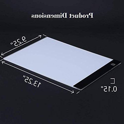 Illuminati Light Box Drawing and Tracing Super Thin Tablet Control Comes with A4 Tracing & Watercolor Paper Clamp