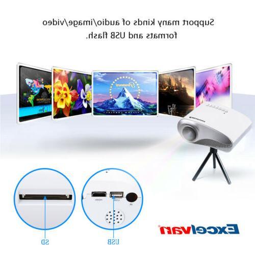 mini 600lumens 1080p hd led video projector