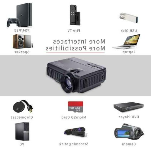 Mini LCD Projector 2400 Support Android 1080P Speaker