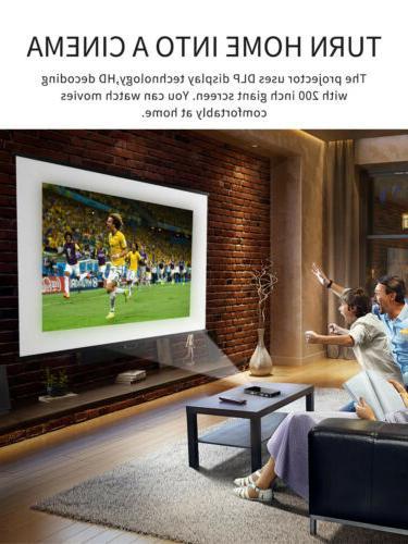 Mini 3000 Wifi DLP Home Theater Projector HDMI