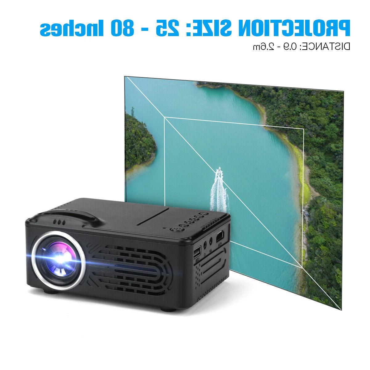 Mini Portable 7000 Lumens HD 1080P Projector Home Theater HDMI