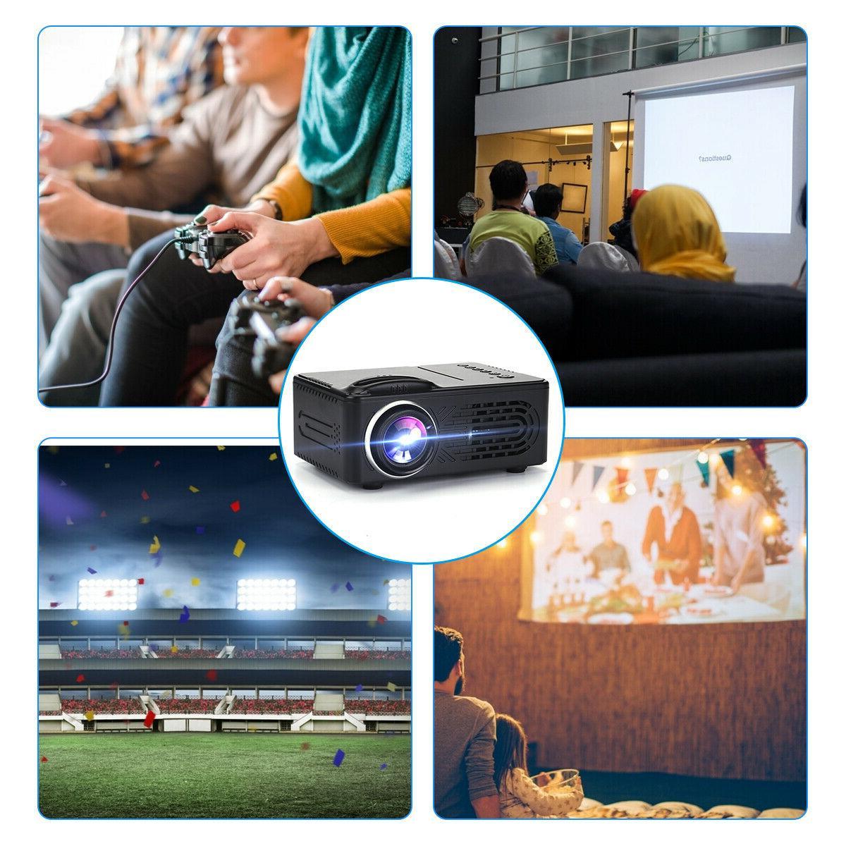 Mini LED HD 1080P Portable Video Movie Cinema HDMI