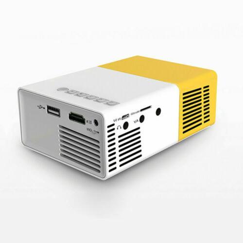 Mini Portable LCD LED Projector HD 1080P USB /MI AV VGA
