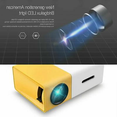 Mini LCD Multimedia LED Projector Full HD 1080P USB HD AV VGA