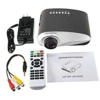 1080P LED 3D VGA HDMI TV Theater Projector Cinema