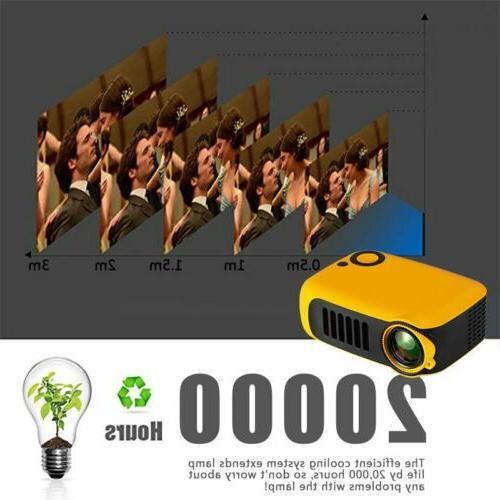 1080p HD LED Portable Home Theater AV USB
