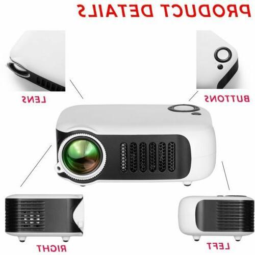 1080p Full HD LED Portable Smart Home Theater HDMI AV USB