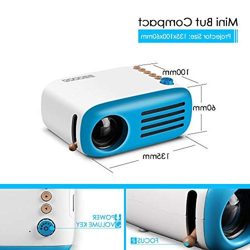 Mini Projector, GooDee Pico Projector PC Laptop for Movie Games