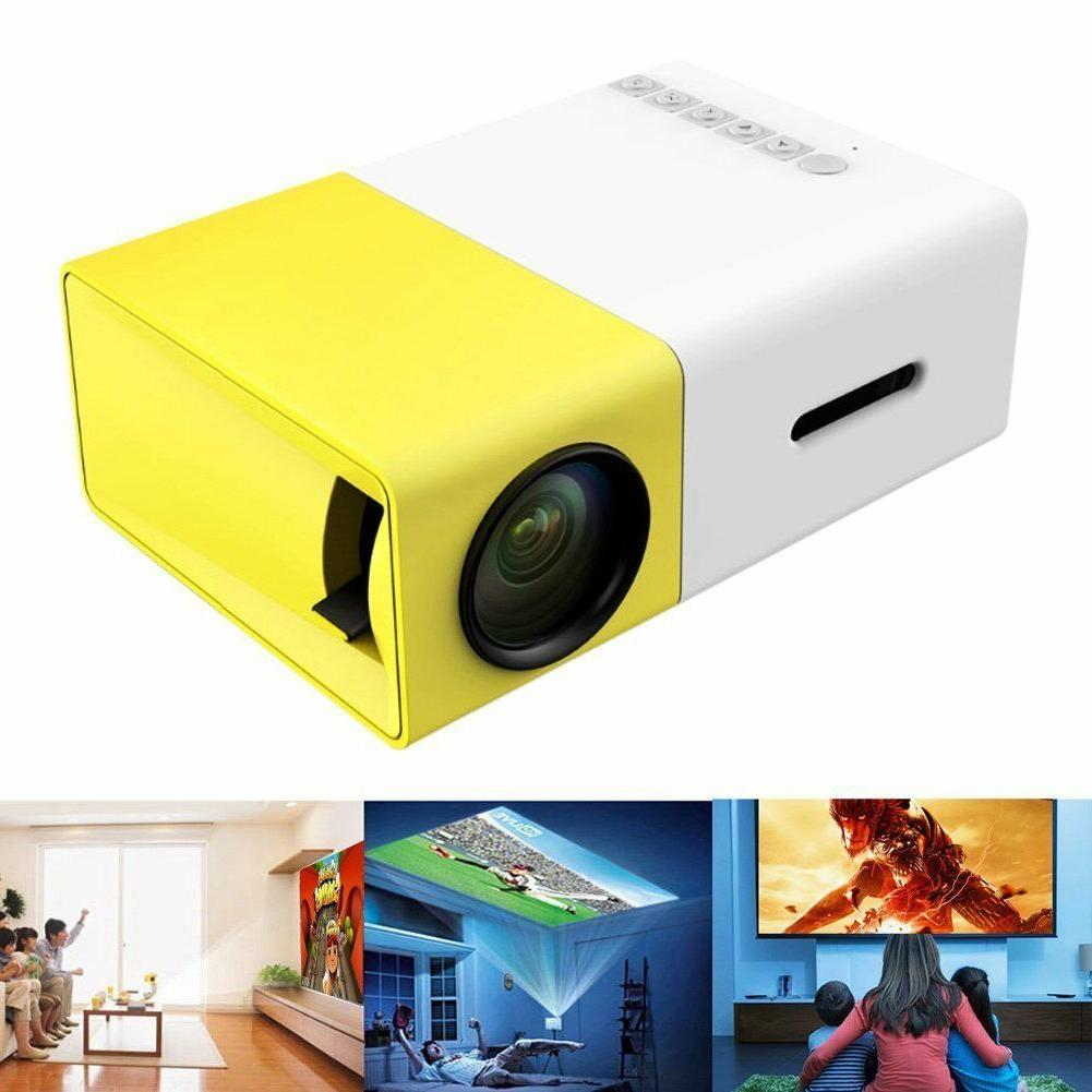 Mini Projector DeepLee DP300 Portable LED Support PC Laptop