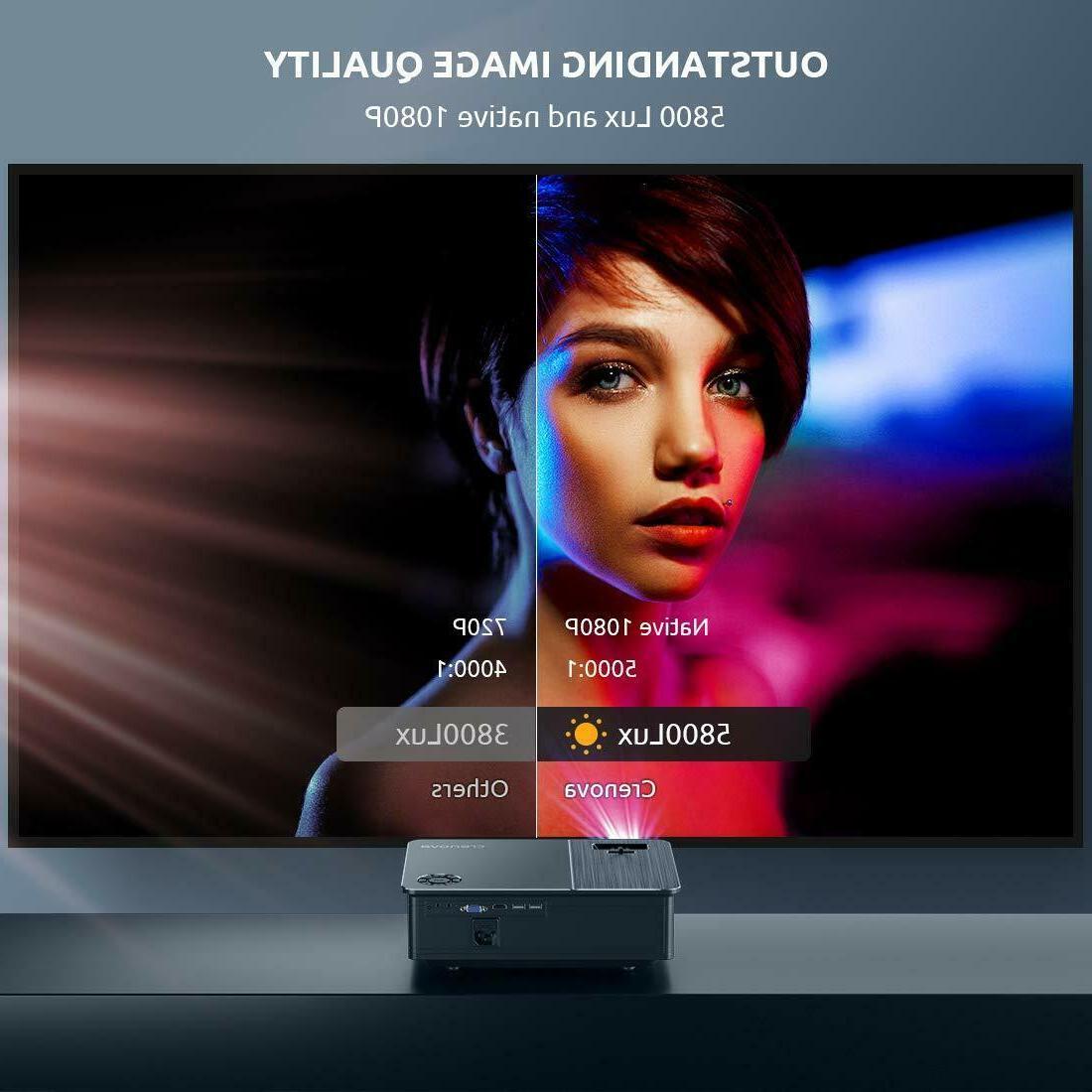 Projector, 1080P 6500 Lumen Video Projector