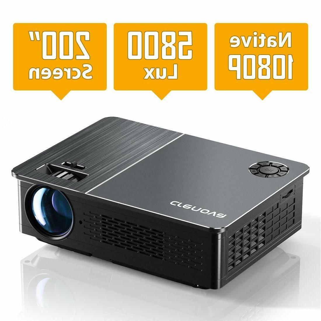 Projector, WiMiUS P20 1080P LED 6500 Lumen Video Projector