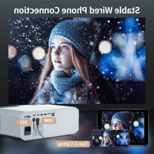 Crenova Native 1080P Video Projector Compatible with