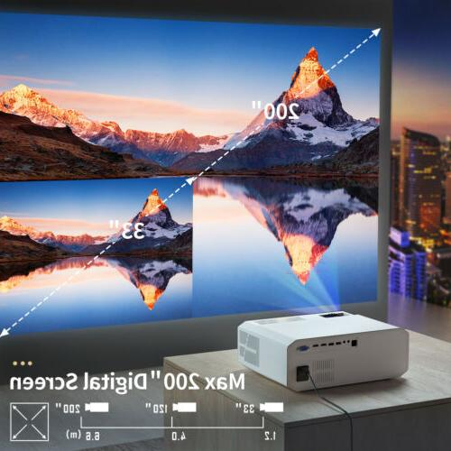 Crenova Native Projector with iOS/Android US