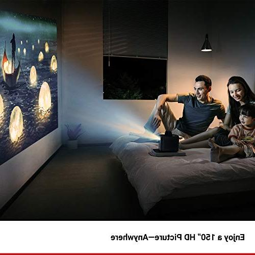 Nebula, by II 300 ANSI Portable Projector 720p DLP Picture, Android 7.1, 1-Second 30-150'' Broad and Casting