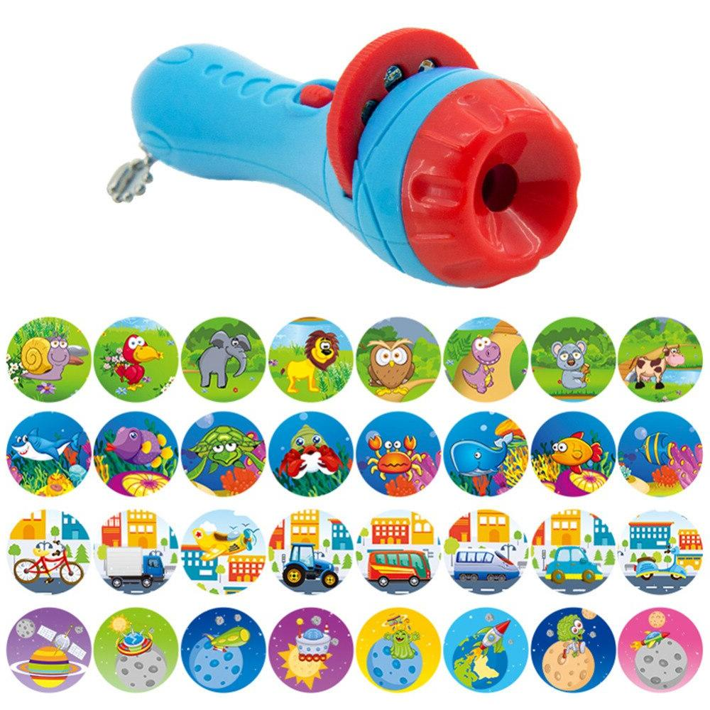 New <font><b>Projector</b></font> Equipment Sleep Story Animal Infants Children Light-up Toy Early