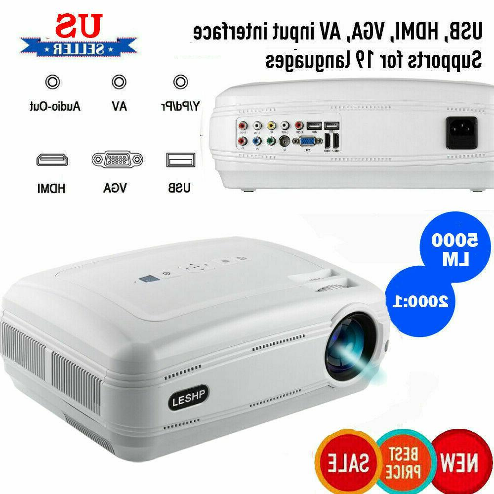 New 7000 Lumens HD Projector HDMI Home