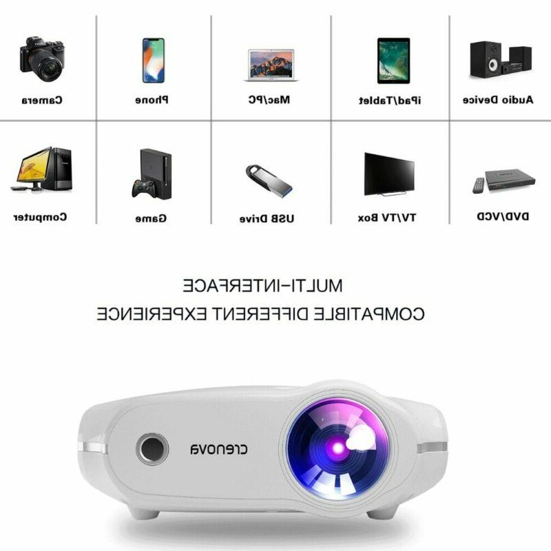 Crenova Newest Led For 4K*2K Video Projector Android Os