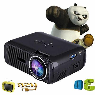 Portable 1080P 3D Multimedia Projector LED Theater USB