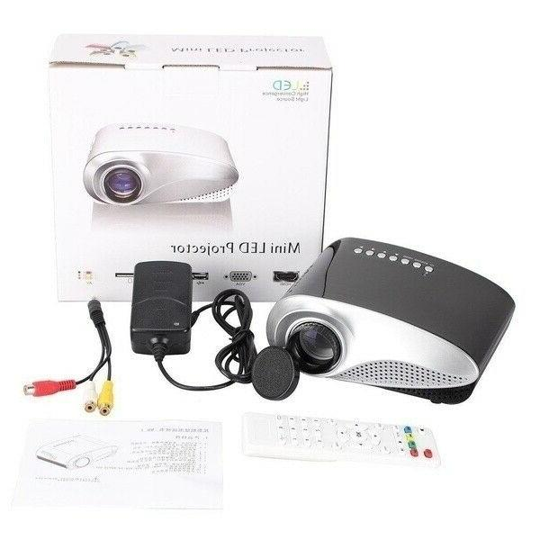 Portable Lumens HD 1080P 3D Projector LED Theater USB