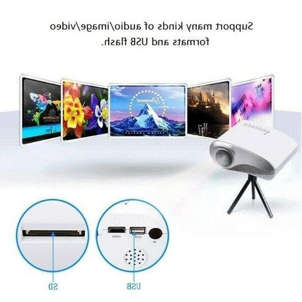 Portable 7000 Lumens 1080P 3D Multimedia LED USB