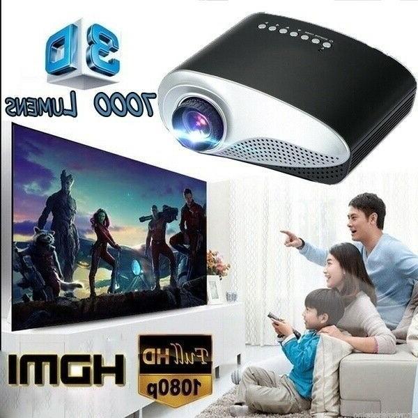 portable 7000 lumens hd 1080p 3d multimedia