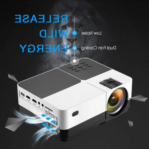 Portable Home Theater 2500 Lumens Video Games Support 1080P
