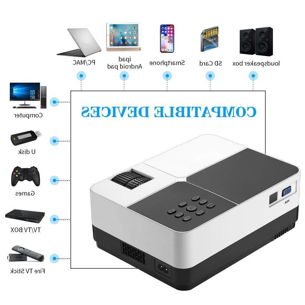 portable led projector movie video home theater
