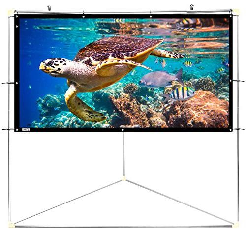 "Pyle 100"" Outdoor Portable Matt Projector w/ Triangle Stand 16:9, Gain HD / / Home PRJTPOTS101"