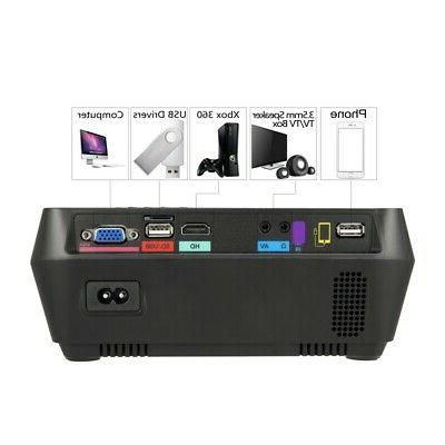 Portable 1080P Home Theater Movie Game 3D HDMI