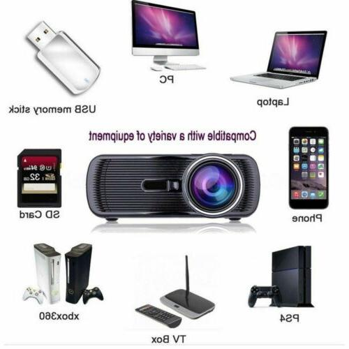 Portable 1080P Movie LED HDMI USB