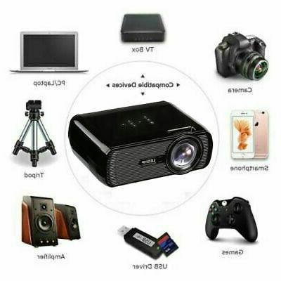 LED Theater Projector 1080P 3D AV/VGA/USB/SD/HDMI Video