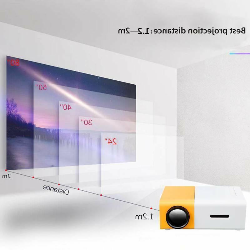 Portable pocket projectors LED 1080P HDMI