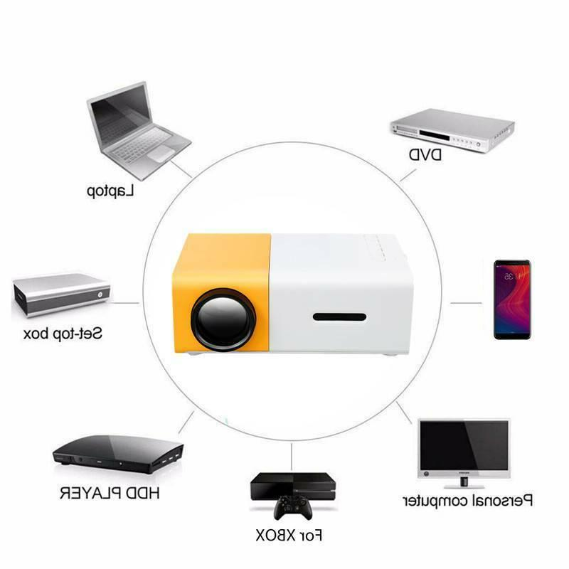 Portable Mini YG300 projectors LED 1080P USB