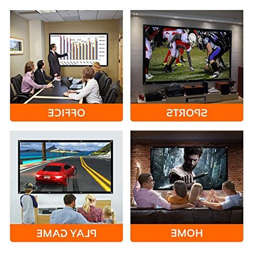 Inch Home TV, Movie, Presentation for Indoor Outdoor Projector and Video Ready. 8 Bungee GIFT - UPHOCUS