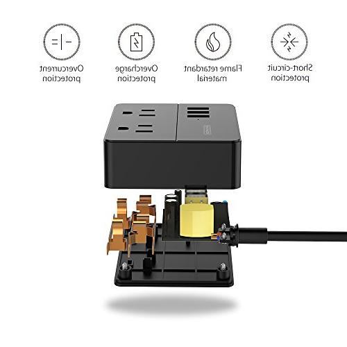 Power for Ship Charging Station 3 USB Ports 3.3 Ft Cord Black