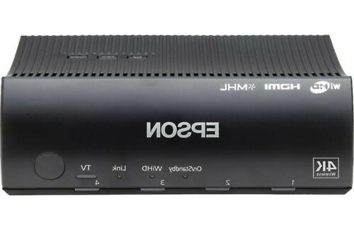 Epson LCD Projector - HDTV - Rear, UHE - 250 - Mode - 5000 Economy Mode x - 4K - 1,000,000:1 2500 lm USB - W -