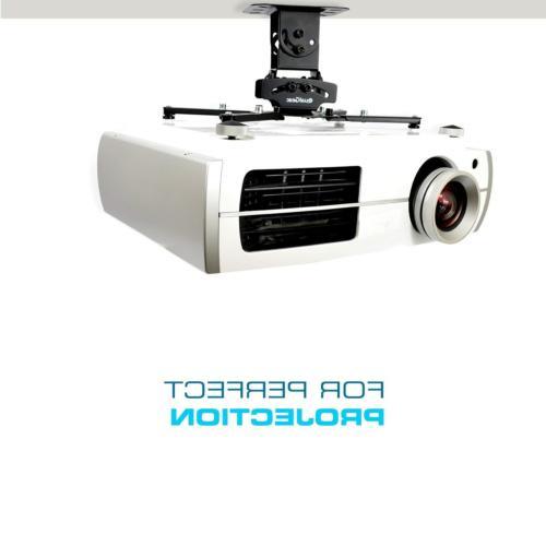 QualGear Mount Projector Accessory White Mount