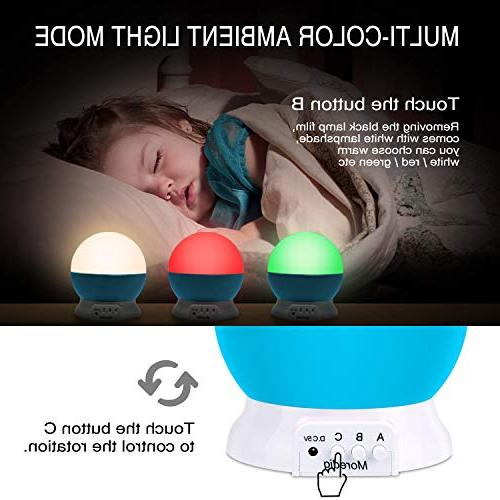 Projection Light Lamp Star with Multicolor with Lamp Man Woman Children Bedroom Blue