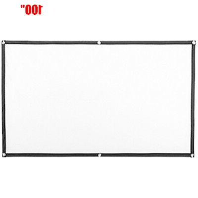 Projection Manual Projector Pull Screen Home Outdoor