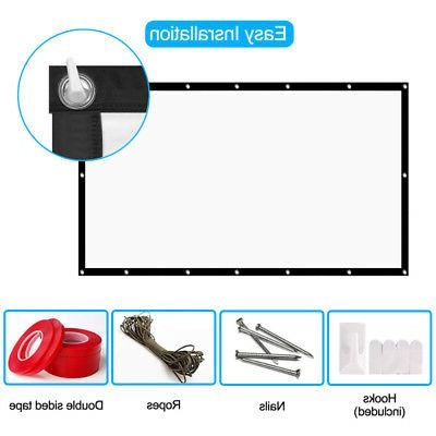 Projection Screen Manual Projector Pull Home Office