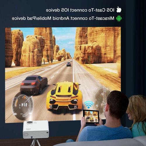 Projector 23000 3D LED Mini WiFi Cinema