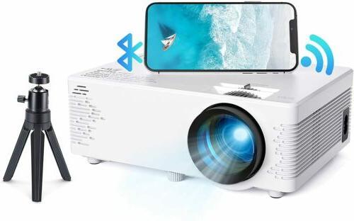 Projector 6500 Lumens 1080P 3D LED Mini WiFi Video Home Thea