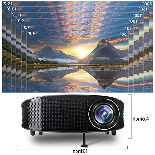 Video Projector,DHAWS Full HDMI Projector PowerPoint Presentation and Home PPT Clicker