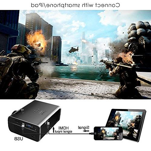 """Projector, Projector with 170"""" Display Portable Home Theater Projector1080P Supported, Compatible HDMI, and"""