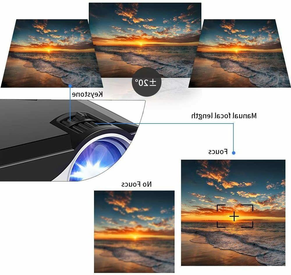 Kllarmant Projector LCD Projector 1080P Multimedia