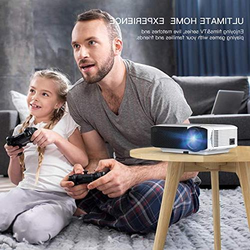 Projector Video Mini Portable Projector 45000 Support 1080P Box/PS4/Smartphone Home Entertainment